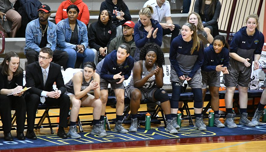 James Connolly on sideline, coaching Jefferson Women's Basketball